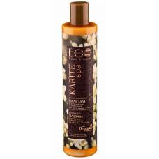 Балансирующий бальзам для волос  ВОССТАНОВЛЕНИЕ И УКРЕПЛЕНИЕ  для жирных у корней и сухих кончиков , KARITE SPA  350ml Eco Lab