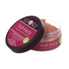 Маска для лица  TOP FACE  красная глина с альгинатом, для чувствительной кожи, от раздражения, зуда и шелушения, улучшает кровоснабжение   150g Savonry